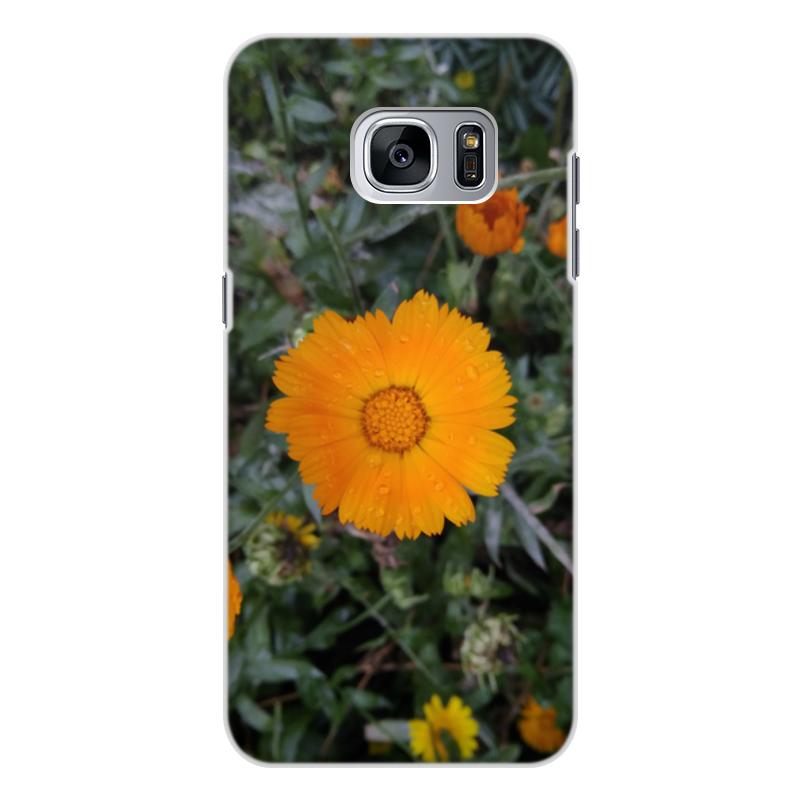 цена на Чехол для Samsung Galaxy S7, объёмная печать Printio Летние цветы