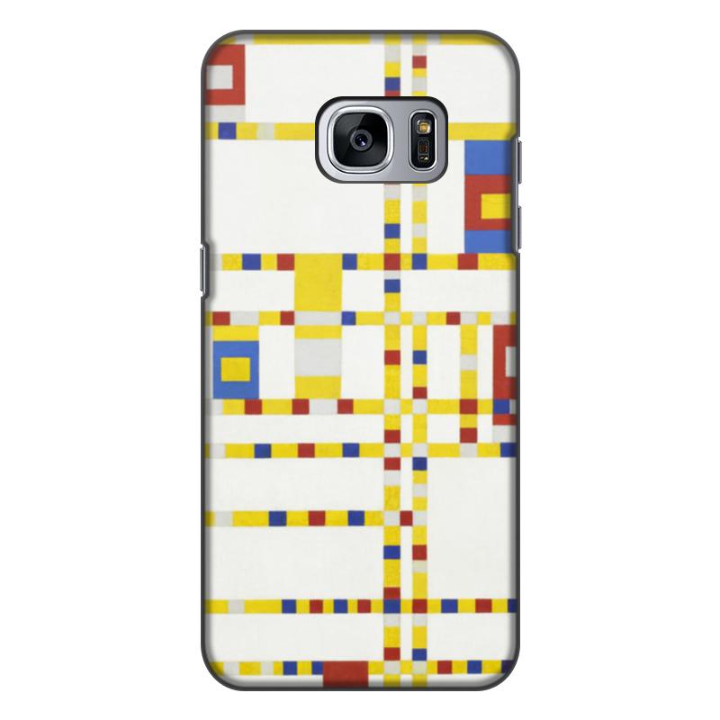 Чехол для Samsung Galaxy S7, объёмная печать Printio Бродвей буги-вуги (питер мондриан) чехол для samsung galaxy s5 printio бродвей буги вуги питер мондриан