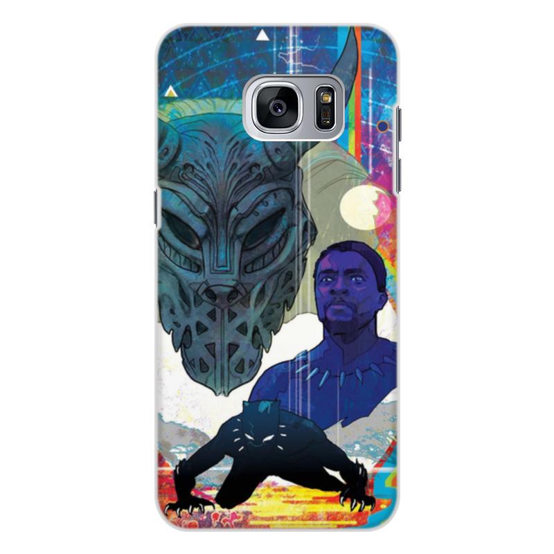 Чехол для Samsung Galaxy S7, объёмная печать Printio Черная пантера printio чехол для samsung galaxy s7 объёмная печать