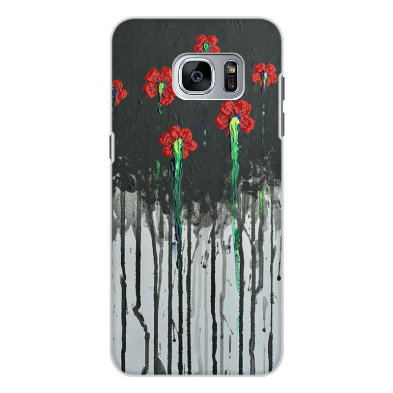 Чехол для Samsung Galaxy S7, объёмная печать Printio Красные маки бомбер printio красные маки