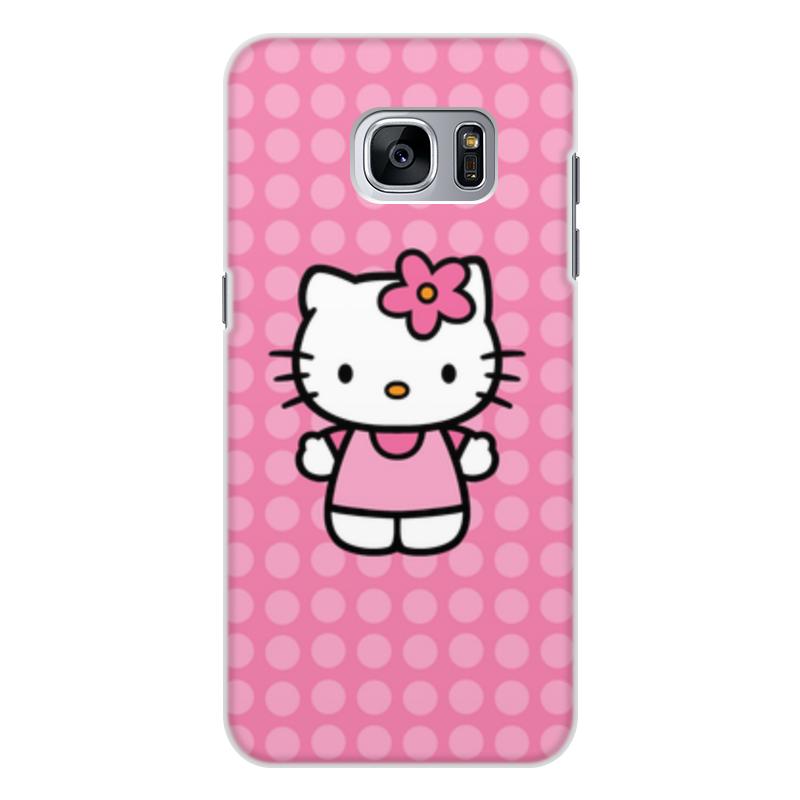 Чехол для Samsung Galaxy S7, объёмная печать Printio Kitty в горошек леггинсы printio kitty в горошек