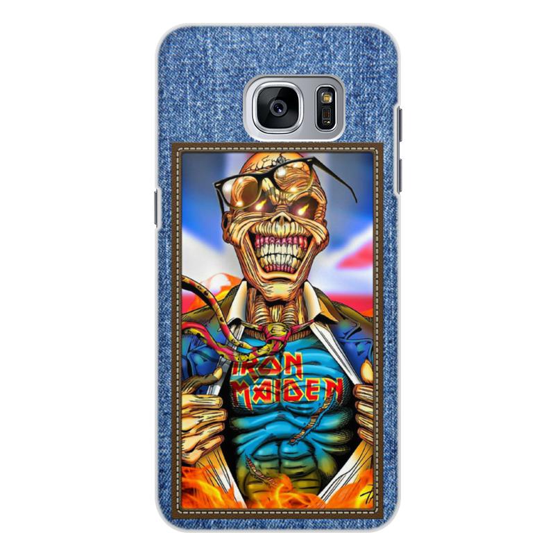 Чехол для Samsung Galaxy S7, объёмная печать Printio Iron maiden patch 3pcs lot high quality carton rosin soldering iron soft solder welding fluxes for rework soldering iron