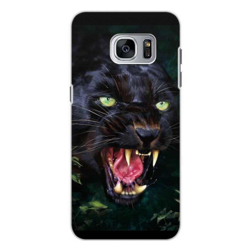 Чехол для Samsung Galaxy S7, объёмная печать Printio Пантера. фэнтези чехол для samsung galaxy s7 edge объёмная печать printio черная пантера