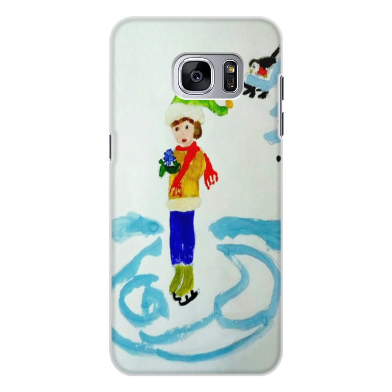 Чехол для Samsung Galaxy S7, объёмная печать Printio Зимние забавы цена