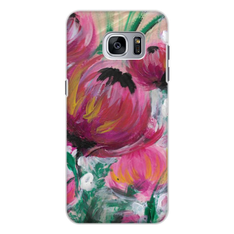 Чехол для Samsung Galaxy S7, объёмная печать Printio Полевые цветы чехол для ноутбука 12 printio чехол чехол чехол полевые цветы