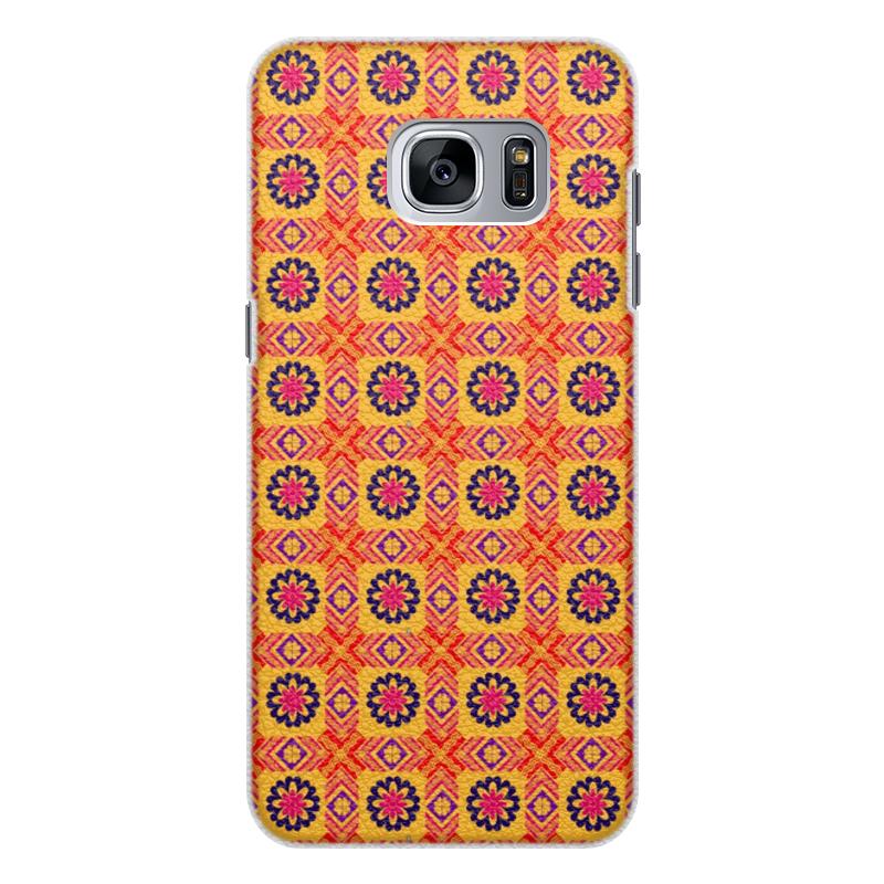Чехол для Samsung Galaxy S7, объёмная печать Printio Квадраты. абстракцимя стоимость