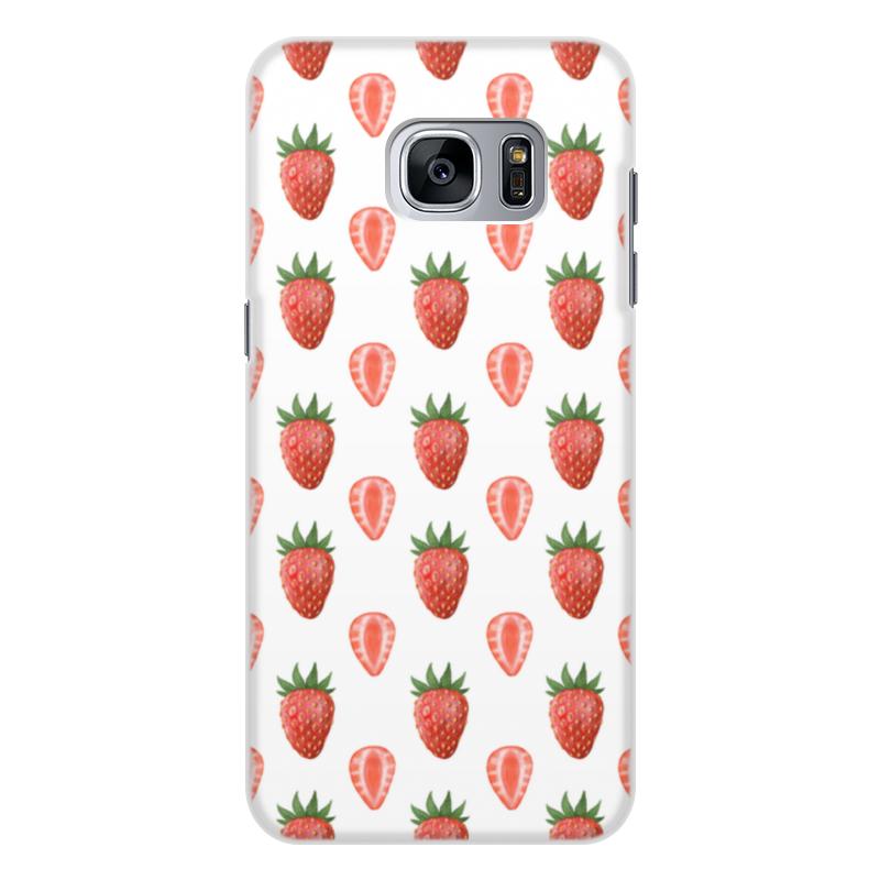 Чехол для Samsung Galaxy S7, объёмная печать Printio Акварельная клубника printio чехол для samsung galaxy s7 объёмная печать