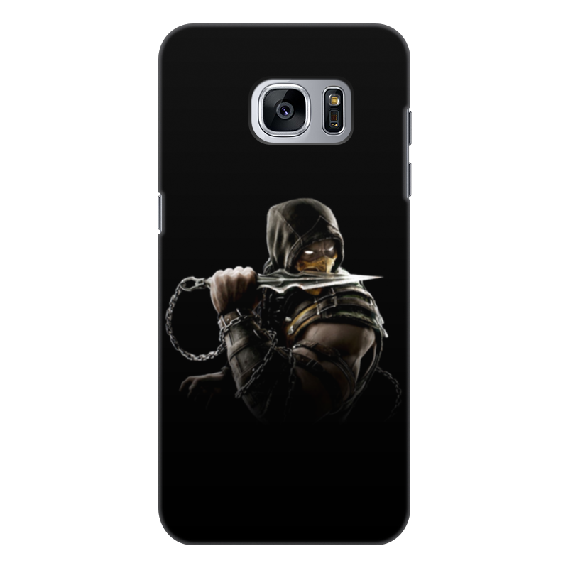 Чехол для Samsung Galaxy S7, объёмная печать Printio Mortal kombat (scorpion) printio чехол для samsung galaxy s7 объёмная печать