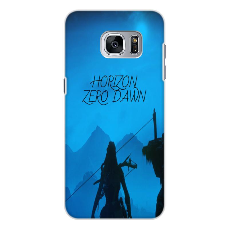 Чехол для Samsung Galaxy S7, объёмная печать Printio Horizon zero dawn for kia k3 12 15 front headlamps transparent lampshade headlight shell cover lens masks 2pcs