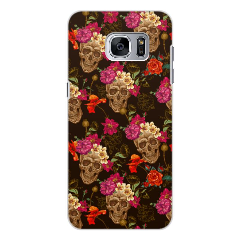 Чехол для Samsung Galaxy S7, объёмная печать Printio Череп чехол для samsung galaxy s5 printio череп художник