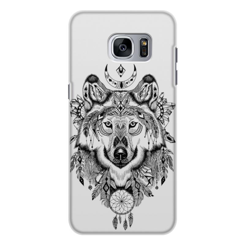 Чехол для Samsung Galaxy S7, объёмная печать Printio Тотем. волк universal car door panel plastic snap push pins fasteners clips black 20 pcs