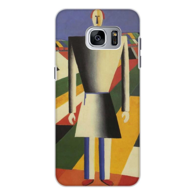 лучшая цена Чехол для Samsung Galaxy S7, объёмная печать Printio Крестьянин в поле (казимир малевич)
