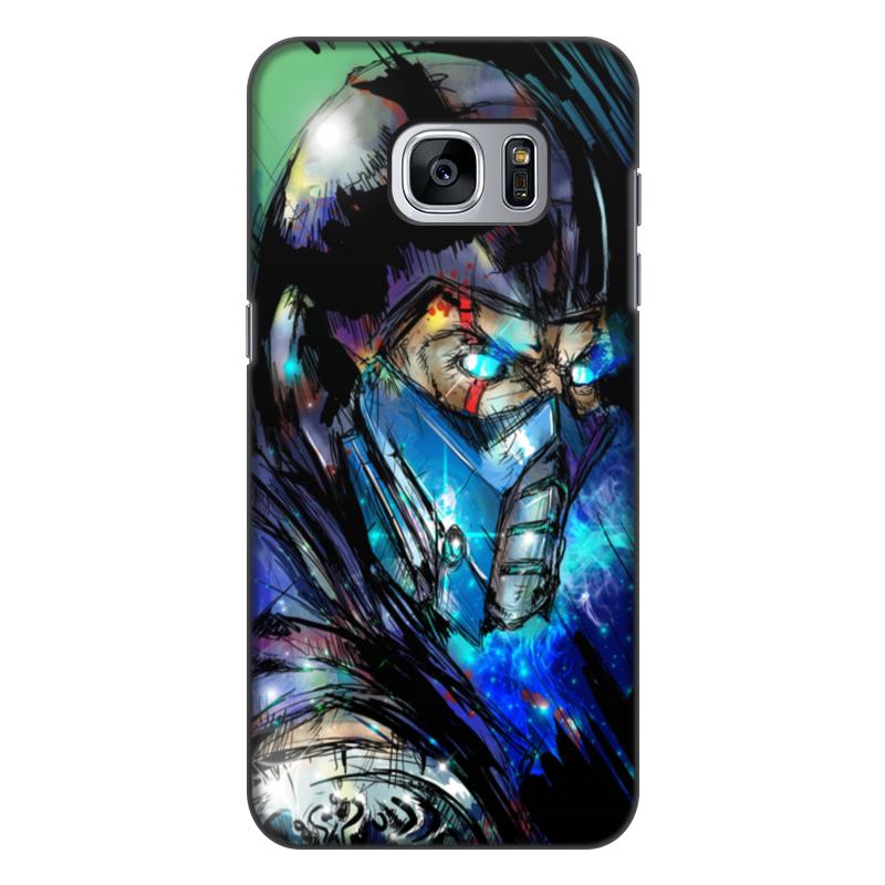 Чехол для Samsung Galaxy S7, объёмная печать Printio Mortal kombat x (sub-zero) чехол для samsung galaxy s6 edge объёмная печать printio mortal kombat x sub zero