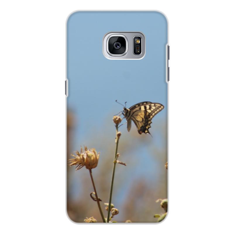 Чехол для Samsung Galaxy S7, объёмная печать Printio Бабочка махаон лонгслив printio крым россия