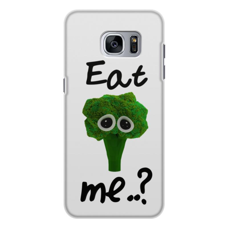 Чехол для Samsung Galaxy S7, объёмная печать Printio Eat me..? цена и фото