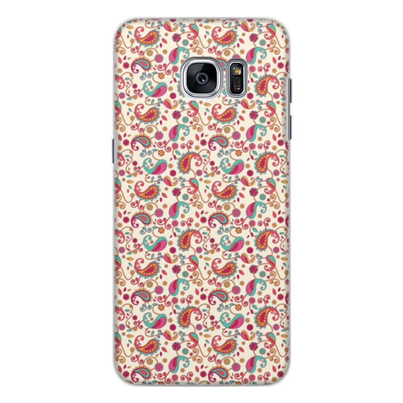 Чехол для Samsung Galaxy S7, объёмная печать Printio Пейсли (яркий) elephone s7 4g phablet