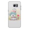 """Чехол для Samsung Galaxy S7, объёмная печать """"Медвежонок"""" - юмор, зима, рисунок, мультяшка, медвежонок"""
