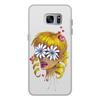 """Чехол для Samsung Galaxy S7, объёмная печать """"Без ума от цветов"""" - любовь, девушка, цветы, сердца, блондинка"""