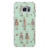"""Чехол для Samsung Galaxy S7, объёмная печать """"Ретро роботы"""" - любовь, ретро, птицы, техника, роботы"""