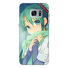 """Чехол для Samsung Galaxy S7, объёмная печать """"Miku Hatsune Sush"""" - аниме, hatsune, мику, бесконечное лето, miku"""