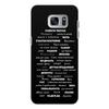 """Чехол для Samsung Galaxy S7, объёмная печать """"Манта для настоящих мужчин (черный вариант)"""" - праздник, мужчина, подарок, пожелания, мантра"""
