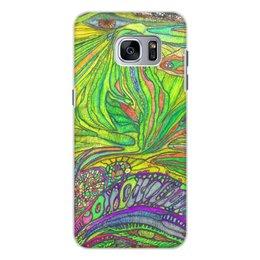 """Чехол для Samsung Galaxy S7, объёмная печать """"Ом Дракон самсунг Гэлакси идише"""" - дракон, тротинка, trotinkaspace, trottart"""