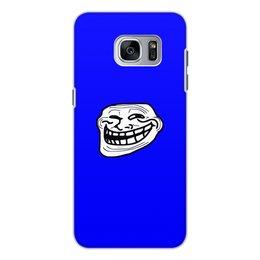 """Чехол для Samsung Galaxy S7, объёмная печать """"Mem смех"""" - смех, приколы, лицо, мемы, mem"""