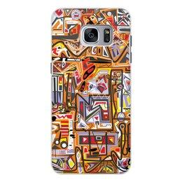 """Чехол для Samsung Galaxy S7, объёмная печать """"Оранжевый дом."""" - арт, узор, абстракция, фигуры, текстура"""