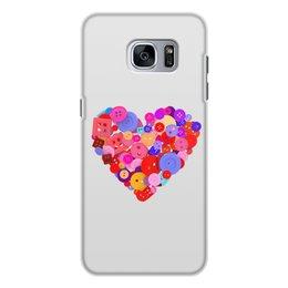 """Чехол для Samsung Galaxy S7, объёмная печать """"День всех влюбленных"""" - любовь, день святого валентина, валентинка, i love you, день влюбленных"""