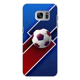 """Чехол для Samsung Galaxy S7, объёмная печать """"Футбол"""" - футбол, спорт, россия, мяч"""