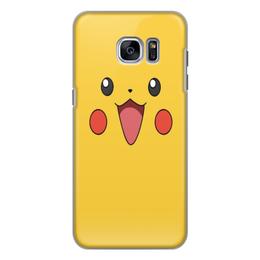"""Чехол для Samsung Galaxy S7, объёмная печать """"Pikachu"""" - для детей, pokemon, покемон, пикачу, pikachu"""