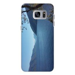 """Чехол для Samsung Galaxy S7, объёмная печать """"Удивительный Алтай"""" - вода, озеро, телецкое озеро, горный алтай, алтай"""