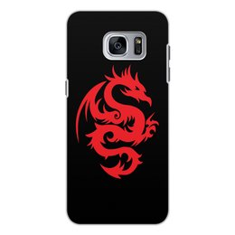 """Чехол для Samsung Galaxy S7, объёмная печать """"ДРАКОНЫ ФЭНТЕЗИ. СИМВОЛИКА"""" - стиль, дракон, красота, эмблема, символ"""