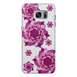 "Чехол для Samsung Galaxy S7, объёмная печать ""Чехол Sacred flower"" - абстракция, мандала, нирвана, визуализация"