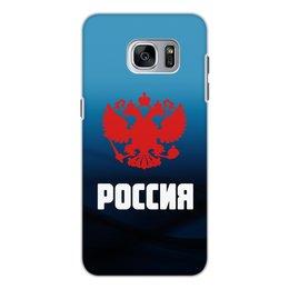"""Чехол для Samsung Galaxy S7, объёмная печать """"Россия"""" - россия, герб, russia, орел, флаг"""