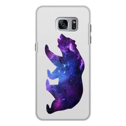 """Чехол для Samsung Galaxy S7, объёмная печать """"Space animals"""" - space, bear, медведь, космос, астрономия"""