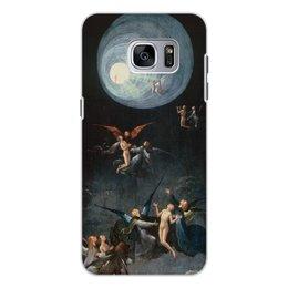 """Чехол для Samsung Galaxy S7, объёмная печать """"Блаженные и проклятые (Восхождение в эмпирей)"""" - картина, живопись, босх"""