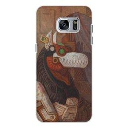 """Чехол для Samsung Galaxy S7, объёмная печать """"Коллекция"""" - фантастика, робот, иллюстрация, волк"""
