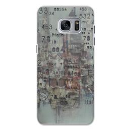 "Чехол для Samsung Galaxy S7, объёмная печать ""Цифры"" - арт, цифры, фактурный"
