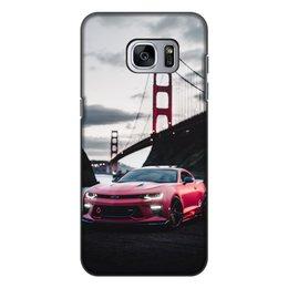 """Чехол для Samsung Galaxy S7, объёмная печать """"Машина"""" - машина"""