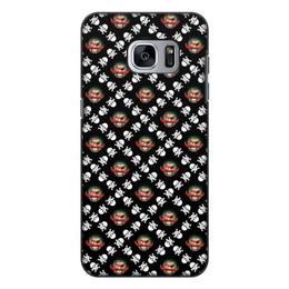 """Чехол для Samsung Galaxy S7, объёмная печать """"Бармалей"""" - череп, пираты, кости, пират, бармалей"""
