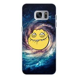"""Чехол для Samsung Galaxy S7, объёмная печать """"космос mem"""" - мем, смешные, лицо, космос, mem"""