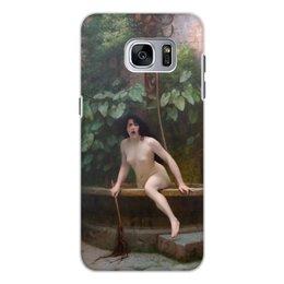 """Чехол для Samsung Galaxy S7, объёмная печать """"Истина, выбирающаяся из колодца (Жан-Леон Жером)"""" - картина, академизм, живопись, ню, жером"""