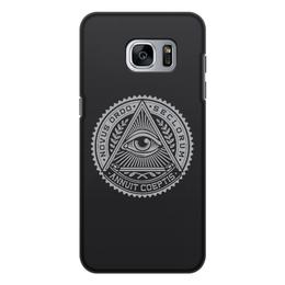"""Чехол для Samsung Galaxy S7, объёмная печать """"Масонство"""" - иллюминаты, всевидящее око, масоны, freemasonry, масонство"""