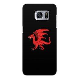 """Чехол для Samsung Galaxy S7, объёмная печать """"дракон"""" - крылья, животные, дракон, dragon, динозавр"""