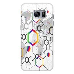 """Чехол для Samsung Galaxy S7, объёмная печать """"Формула"""" - узор, текстура, формула, химия, молекулы"""