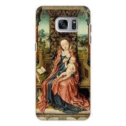 "Чехол для Samsung Galaxy S7, объёмная печать ""Мадонна с младенцем на троне (Альберт Баутс)"" - картина, живопись, возрождение, баутс"