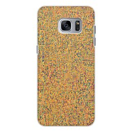 """Чехол для Samsung Galaxy S7, объёмная печать """"Сандал"""" - арт, узор, абстракция, фигуры, текстура"""