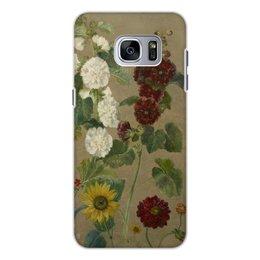 """Чехол для Samsung Galaxy S7, объёмная печать """"Цветы (картина Эжена Делакруа)"""" - цветы, картина, живопись, делакруа, романтизм"""