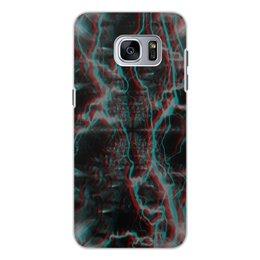 """Чехол для Samsung Galaxy S7, объёмная печать """"Молния"""" - узор, космос, краски, абстракция, молния"""